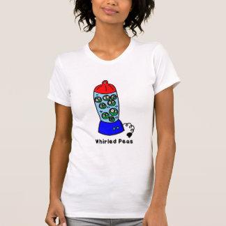 Camiseta ervilhas giradas
