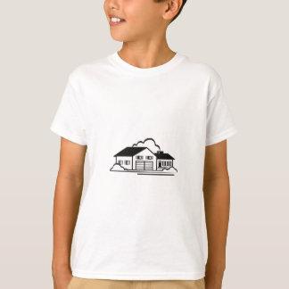Camiseta Esboço da casa