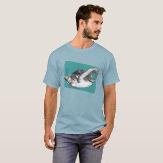 Camiseta Esboço da tartaruga de mar