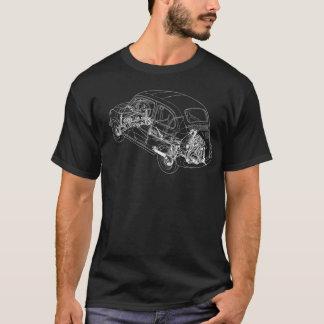 Camiseta Esboço de Fiat 500 - parte dianteira somente