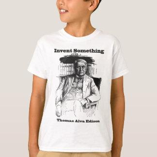 Camiseta Esboço de Thomas Edison - invente algo