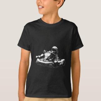 Camiseta Esboço do lápis do Sepia do piloto de Kart