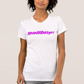 Camiseta Esboço do roxo do rosa quente da menina de Malibu