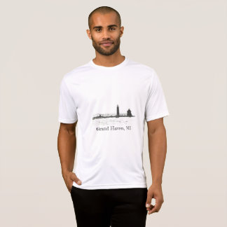 Camiseta Esboço grande do farol do abrigo