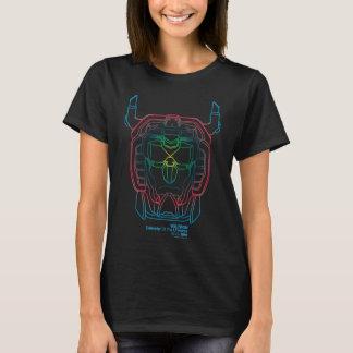 Camiseta Esboço piloto da cabeça do inclinação das cores de