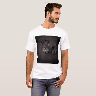 Camiseta Escala da roupa da fotografia da flor das belas