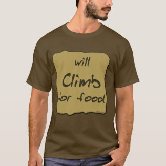 Camiseta Escalará para a comida