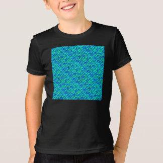Camiseta Escalas do azul do Aqua