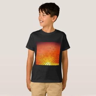 Camiseta escape dos pássaros do por do sol