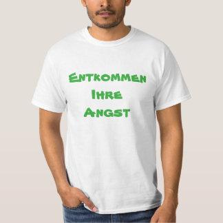 Camiseta Escape seu anxie no alemão