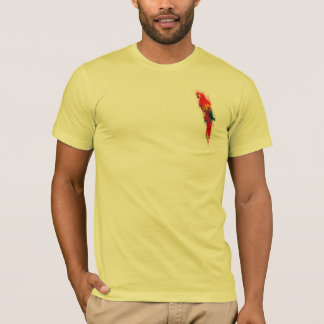 Camiseta Escarlate do Macaw pintado