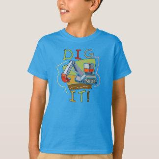 Camiseta Escavação do veículo da construção ele