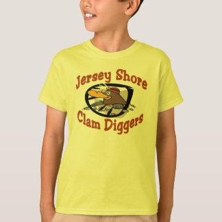 Camiseta Escavadores dos moluscos da costa do jérsei