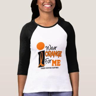 Camiseta Esclerose múltipla do MS eu visto a laranja para