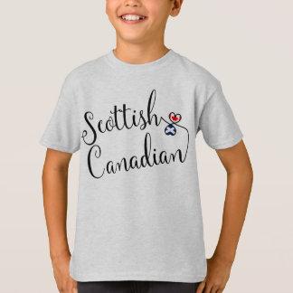 Camiseta escocesa dos corações de Entwinted do