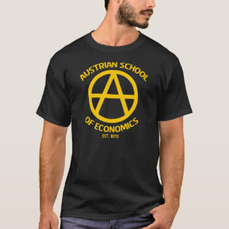 Camiseta Escola austríaca do capitalismo de Anarcho da