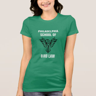 Camiseta Escola de Philadelphfia do verde de Kelly da lei