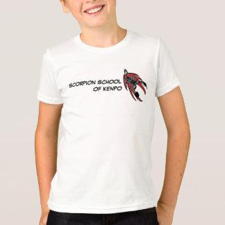 Camiseta Escola do escorpião dos miúdos do t-shirt de Kenpo