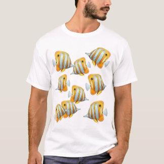 Camiseta Escola do t-shirt dos peixes da borboleta de