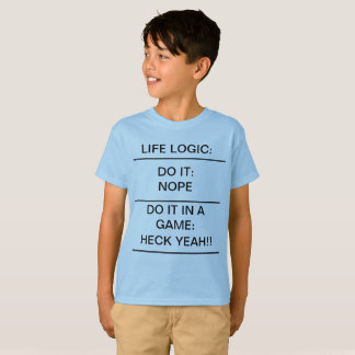 Camiseta Escola engraçada do t-shirt dos miúdos da LÓGICA
