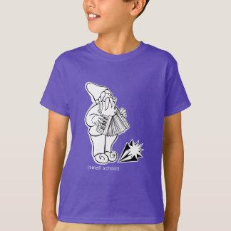 """Camiseta escola pequena do """"gnomo acordeão """""""