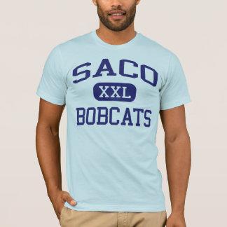 Camiseta Escola secundária Saco Maine de Saco dos linces de