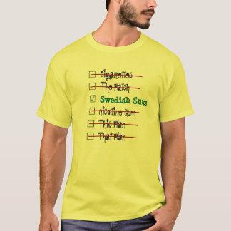 Camiseta Escolha a melhor solução -- Sueco Snus