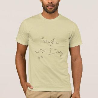 Camiseta Escolha com cães, impressões da pata refrigeram