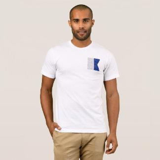 Camiseta Escolha de 26 bandeiras marítimas náuticas da