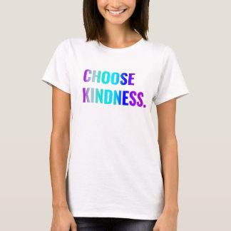 Camiseta Escolha rotulação roxa/azul do t-shirt da bondade