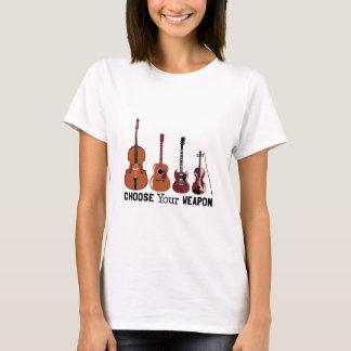 Camiseta Escolha sua arma