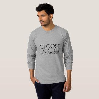 Camiseta Escolha t-shirt longos dos homens amáveis do