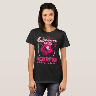 Camiseta Escorpião da rainha comprou-me Tshirt do zodíaco
