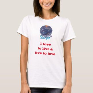 Camiseta Escorpião - t-shirt do zodíaco