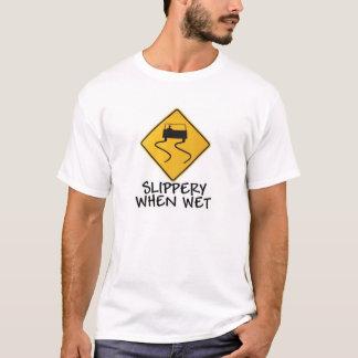 Camiseta Escorregadiço quando molhado