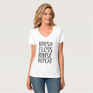 Camiseta Escova, Floss, Rince, repetição