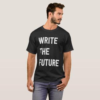 Camiseta Escreva o t-shirt escuro futuro