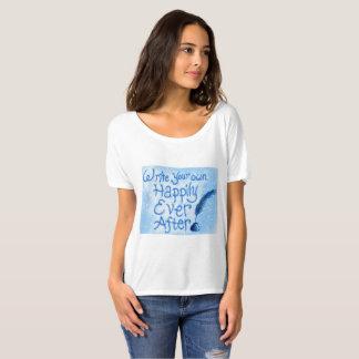 Camiseta Escreva seus próprios feliz nunca após o T