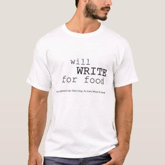 Camiseta Escreverá para a comida