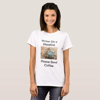 Camiseta Escritor em um fim do prazo