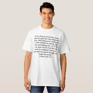 Camiseta Escritura - 3:16 de John - 17 + 6:14 de Ephesians
