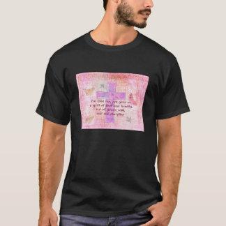 Camiseta Escritura bíblica das citações do 1:7 de 2 Timothy