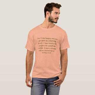 CAMISETA ESCRITURA T-SHIRT/CUSTOMIZABLE DE MATTHEW 25-35