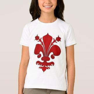 Camiseta Escuro - símbolo vermelho da flor de lis