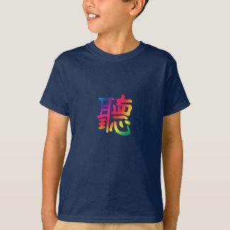Camiseta Escuta o caráter chinês