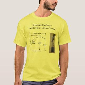 Camiseta Esforço do punho dos engenheiros dos materiais sem