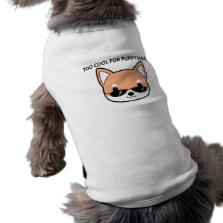 Camiseta Esfrie demasiado para o Tshirt do cão de Shiba da