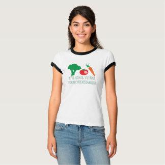 Camiseta Esfrie para comer o t-shirt das suas mulheres dos