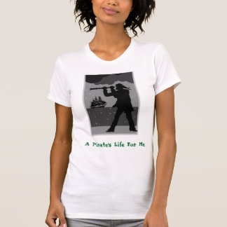 Camiseta Espaço, a vida de um pirata para mim