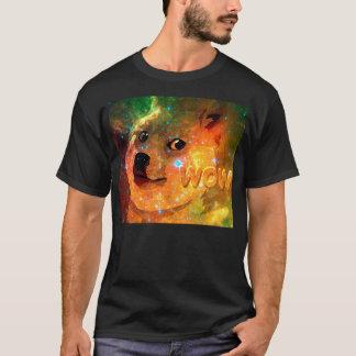 Camiseta espaço - doge - shibe - uau doge